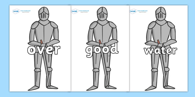 Next 200 Common Words on Suits of Armour - Next 200 Common Words on  - DfES Letters and Sounds, Letters and Sounds, Letters and sounds words, Common words, 200 common words