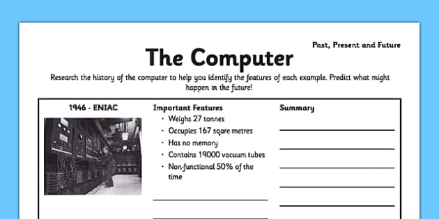 The Computer: Past, Present and Future - CPU, processor, ENIAC, vaccuum tubes