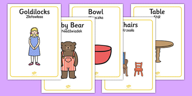Goldilocks and the Three Bears Display Posters Polish Translation - polish, goldilocks and the three bears, display posters, goldilocks themed posters, goldilocks posters