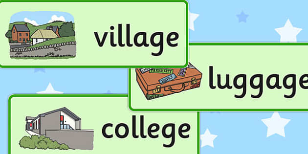 Two Syllable Final 'J' Sound Word Cards - final j sound, SLT