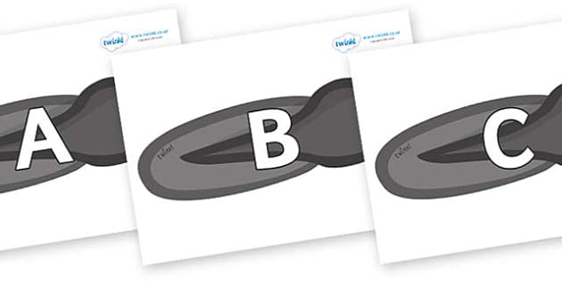 A-Z Alphabet on Tadpoles - A-Z, A4, display, Alphabet frieze, Display letters, Letter posters, A-Z letters, Alphabet flashcards