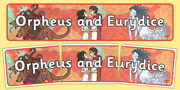 Orpheus and Eurydice Display Banner - display, banner, orpheus