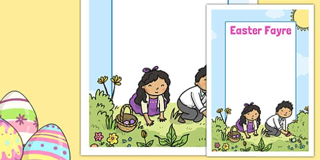Easter Fayre Editable Poster - easter fair, easter fayre, fair, fayre, easter, editable poster