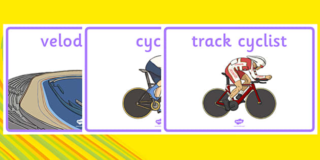 The Olympics Cycling Display Posters - Cycling, Olympics, Olympic Games, sports, Olympic, London, 2012, display, banner, poster, sign, activity, Olympic torch, events, flag, countries, medal, Olympic Rings, mascots, flame, compete