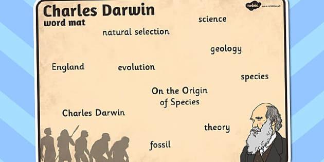 Charles Darwin Word Mat - charles, darwin, word, mat, word mat