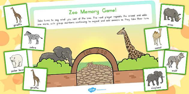 Zoo Memory Game - australia, zoo, memory, game, activity, sen