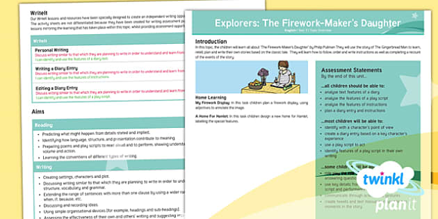PlanIt Y3 Explorers: To Support Teaching On The Firework-Maker's Daughter Topic Overview - Explorers, The Firework-Maker's Daughter, adventure, journey, Philip Pullman, long term plan, plann