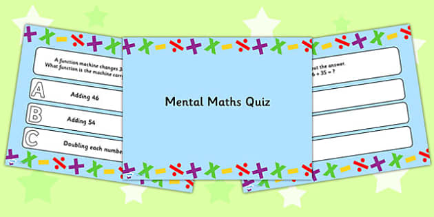Mental Maths PowerPoint Quiz - mental maths, powerpoint, quiz