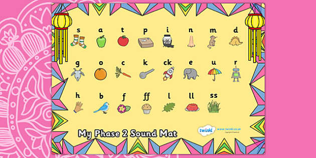 Diwali Themed Phase 2 Sound Mat - diwali, phase 2, phase two, sound mat, phase 2 sound mat, diwali sound mat, themed sound mat, phonics, letters and sounds