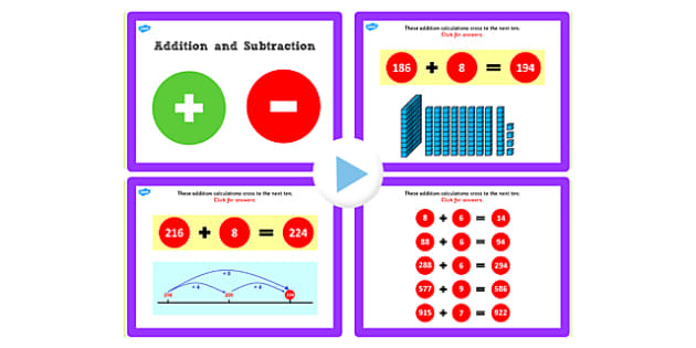 Y3 Addition Subtraction Lesson 1b Add Ones Crossing 10 Powerpoint