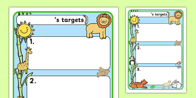 Themed Target Sheets Animals - Target Sheets, Themed Target Sheets, Animal Target Sheets, Animal Themed, Animal Themed Target Sheets