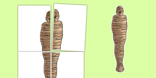 A2 Ancient Egyptian Cut-out Mummy - egyptian, visual, posters, display