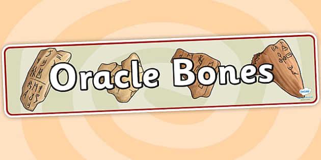 Oracle Bones Display Banner - oracle bones, history, display