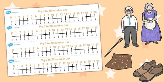 The Elves and the Shoemaker Number Lines 0-20 - number lines