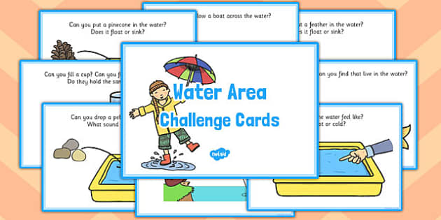 Water Area Challenge Cards - challenge cards, water area, cards