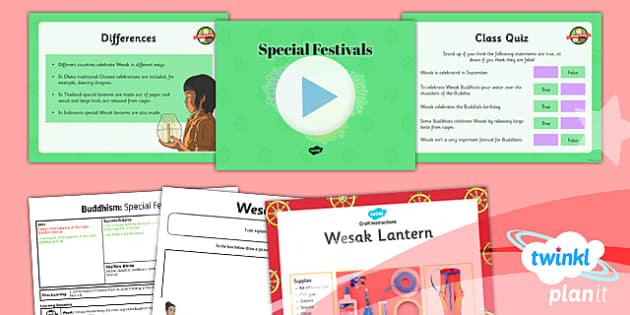 PlanIt - RE Year 4 - Buddhism Lesson 4: Special Festivals Lesson Pack - buddhist, Buddha, celebration, Wesak, lantern