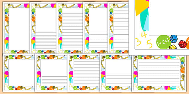 Maths Working Wall Themed Page Borders - maths, working wall, themed, page borders