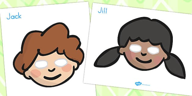 Jack and Jill Role Play Masks - australia, role-play, masks