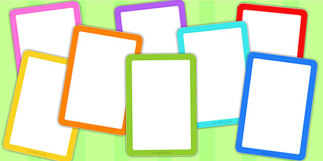 Editable Multicolour Card Templates - cards, card template