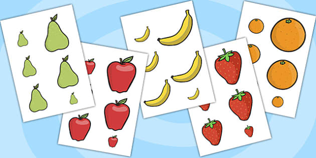 Fruit Size Ordering - healthy eating, size order, order, sort