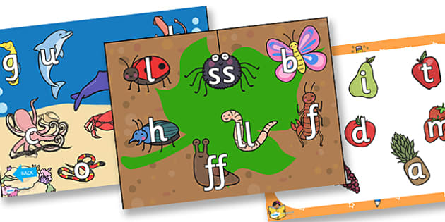 Phase 2 PGC FS Letters and Sounds Interactive PowerPoint - phase 2, PGC, FS, letters, sounds, interactive, powerpoint, phase 2 powerpoint