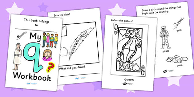 My Workbook q lowercase - education, home school, child development, children activities, free, kids, worksheets, how to write, literacy