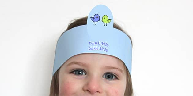 Two Little Dickie Birds Headbands - two little dickie birds, headbands, role play