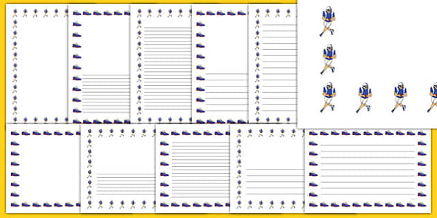 NFL Writing Borders Pack - usa, nfl, writing borders, writing, borders, pack, football, american football