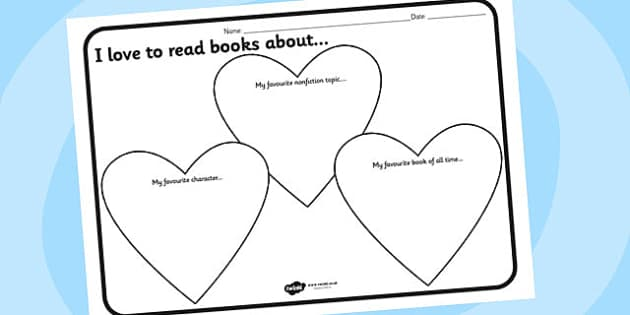 I Love To Read Worksheet I love to read reading – Active Reading Worksheets