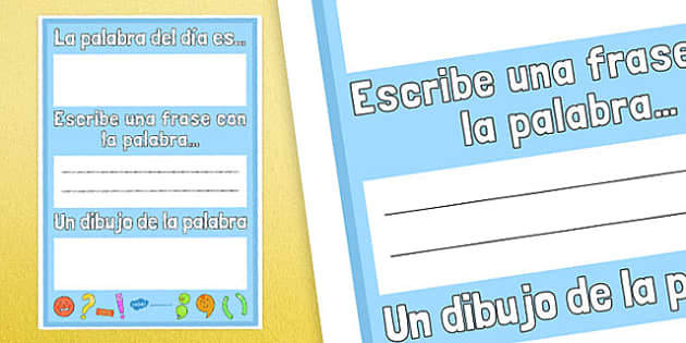 La palabra del día es... Poster Spanish - spanish, word of the day, word, day, poster, display
