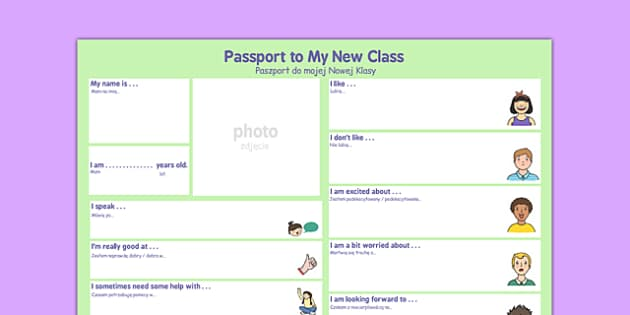 Passport to a New Class Polish Translation - polish, passport, new class, new, class, pass