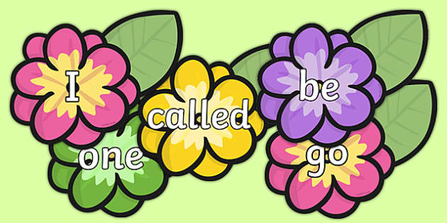 Phase 2 To 5 Tricky Words on Flowers - phase 2-5, coloured, tricky words, read, write, read, write, trciky words, satipn, letters and sounds ohase 2, lettes, ticky words, trickywords, tyricky words, trickey words, phease 2 to 5 tricky words, Letters&