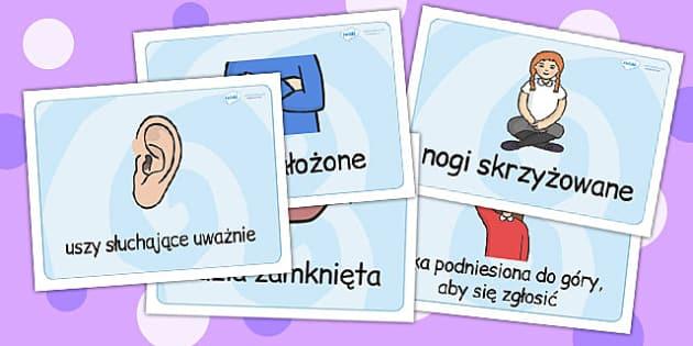 Intrukcje jak nalezy siedziec w sali po polsku - intrukcje , Polish