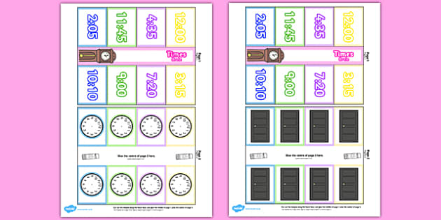 Time Writing Clocks Foldable Visual Aid Template Colour Romanian Translation - time, clock, tell, analogue, maths, ssm, ks1, year 1, year 2, romania,  eal