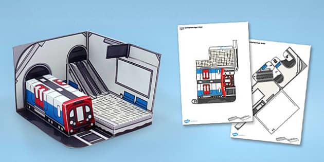 London Underground Paper Model - london, underground, craft
