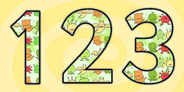 Germ Themed Display Numbers 2 per A4 - germ, display numbers