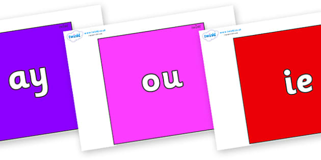 Phase 5 Phonemes on Squares - Phonemes, phoneme, Phase 5, Phase five, Foundation, Literacy, Letters and Sounds, DfES, display
