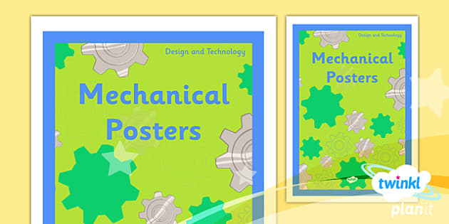 PlanIt - DT LKS2 - Mechanical Posters Unit Book Cover - planit, book cover, lks2, design and technology, mechanical posters