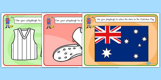 AFL Australian Football League Football Playdough Mats - mats