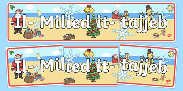 Australia Happy Christmas Display Banner Maltese - christmas, banner, xmas