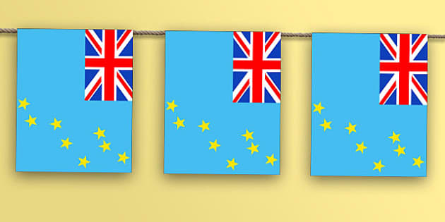 Tuvalu Flag Bunting - nation, international, geography, culture, display, oceana, australiasia, olympics