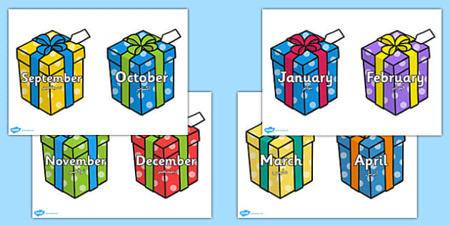Months on Birthday Presents Arabic Translation - arabic, months, birthday, presents, year