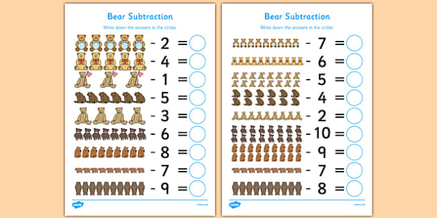 Farm Subtraction Sheet - taking away, less, numeracy, animals