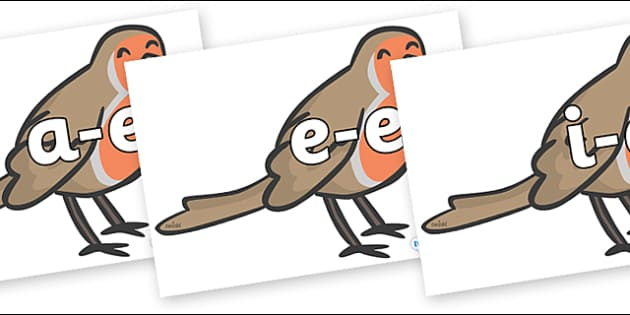 Modifying E Letters on Robins - Modifying E, letters, modify, Phase 5, Phase five, alternative spellings for phonemes, DfES letters and Sounds