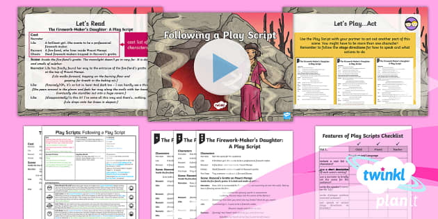 PlanIt Y3 Explorers: To Support Teaching On The Firework-Maker's Daughter  Lesson Pack Play Scripts 1 - Explorers, The Firework-Maker's Daughter, play script, acting, performance, Philip Pullman, literac