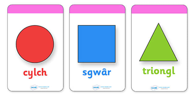 2D Shape Flashcards (Shape Names) - Welsh - 2D Shape names, Shape Flashcards, Shape Pictures, Shape Words, 2D flashcards, Welsh, cymru, Wales