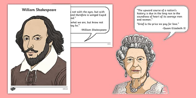 Famous Britons Cut Outs and Quotes - famous britons, cut outs, quotes, famous, britons