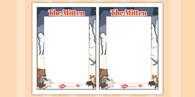 The Mitten Editable Note - the mitten, editable note, editable
