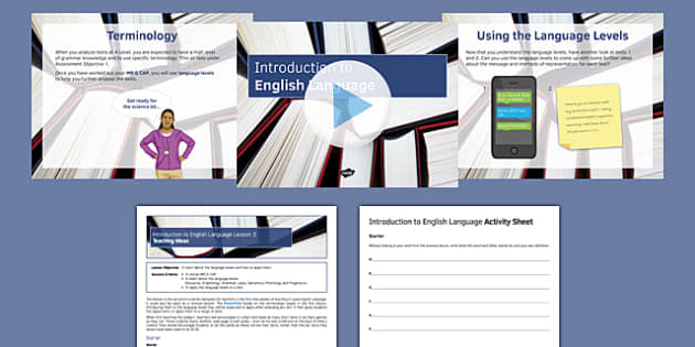 Introduction to English Language Lesson 2 Lesson Pack