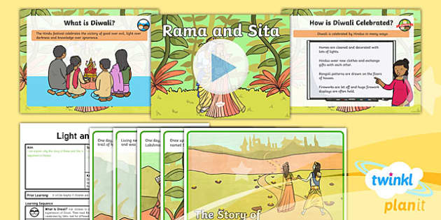 PlanIt - RE Year 2 - Light and Dark Lesson 3: Rama and Sita (Hindusim) Lesson Pack